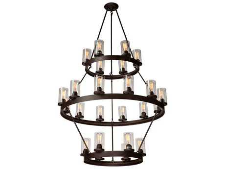 Artcraft Lighting Melno Park Dark Chocolate 24-Light 41'' Wide Chandelier ACAC10004