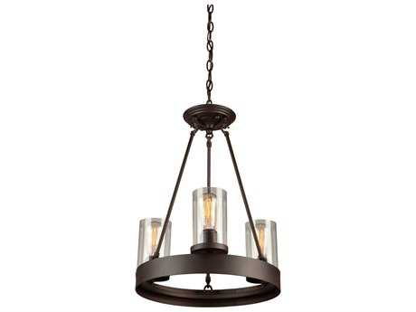 Artcraft Lighting Melno Park Dark Chocolate Three-Light 17'' Wide Chandelier ACAC10003