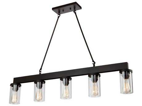 Artcraft Lighting Menlo Park Oil Rubbed Bronze Five-Light 42'' Wide Island Light ACAC10008