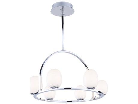Artcraft Lighting Meridian Chrome 23'' Wide Glass LED Pendant