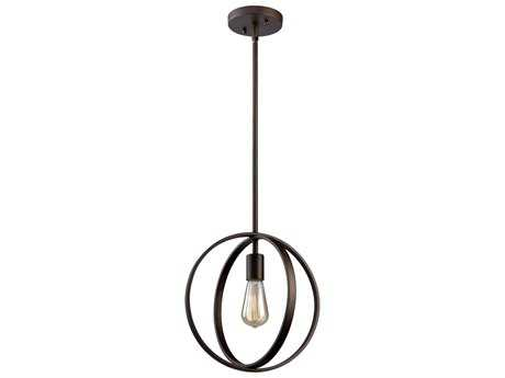 Artcraft Lighting Newport Oil Rubbed Bronze 12'' Wide Mini Pendant Light ACAC10881OB