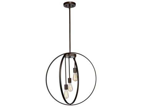 Artcraft Lighting Newport Oil Rubbed Bronze Three-Light 19'' Wide Pendant Light ACAC10883OB