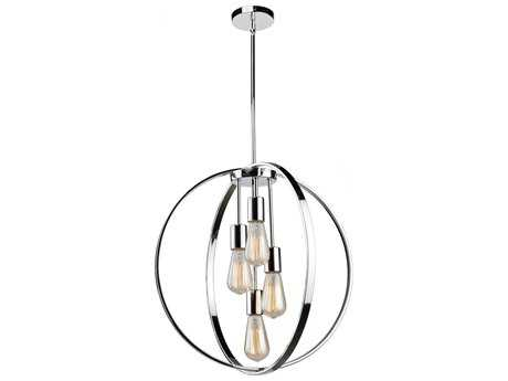 Artcraft Lighting Newport Chrome Four-Light 24'' Wide Pendant Light ACAC10884CH