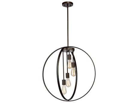 Artcraft Lighting Newport Oil Rubbed Bronze Four-Light 24'' Wide Pendant Light ACAC10884OB