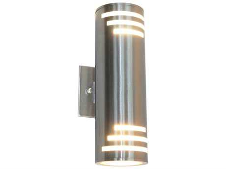 Artcraft Lighting Nuevo Stainless Steel Two-Light Outdoor Wall Light