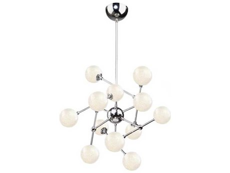 Artcraft Lighting Odyssey Chrome 12-Light 26'' Wide LED Chandelier ACAC7572