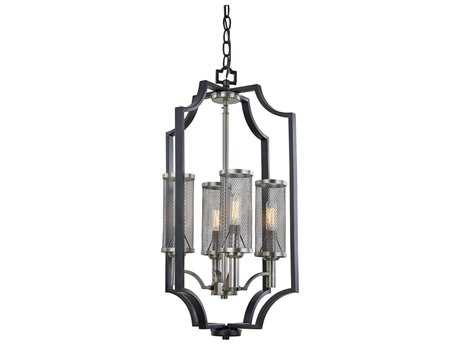 Artcraft Lighting Oxford Matte Black Four-Light 14'' Wide Mini Chandelier
