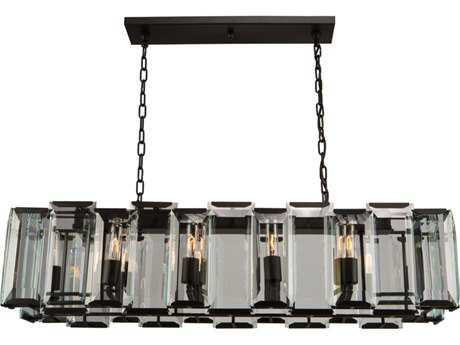 Artcraft Lighting Palisades Matt Black 10-Light 12'' Wide Island Light ACAC10260
