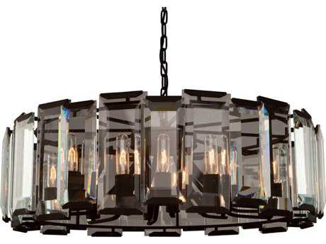 Artcraft Lighting Palisades Matt Black 12-Light 32.75'' Wide Chandelier ACAC10262