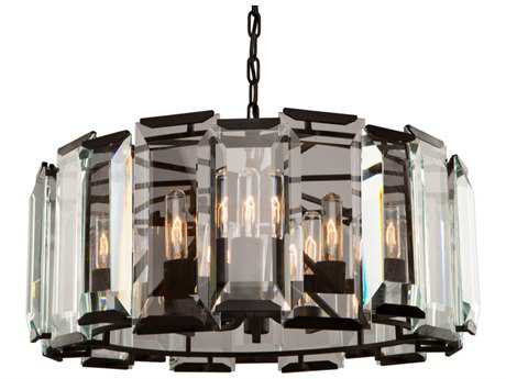 Artcraft Lighting Palisades Matt Black Nine-Light 25'' Wide Chandelier ACAC10269
