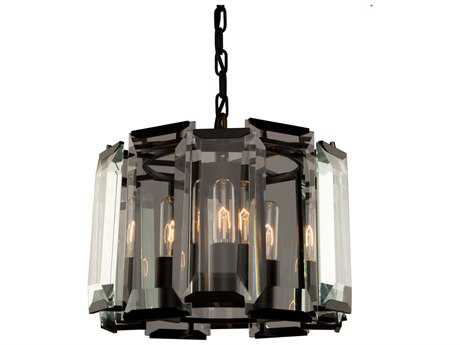 Artcraft Lighting Palisades Matt Black Three-Light 15'' Wide Semi-Flush Mount Light ACAC10263