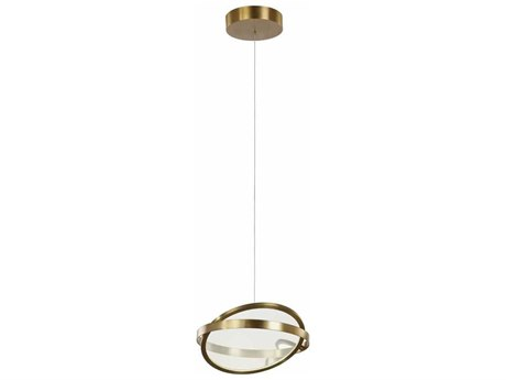 Artcraft Lighting Palo Alto Brushed Bronze LED 14'' Wide Mini Pendant Light ACAC7600BB