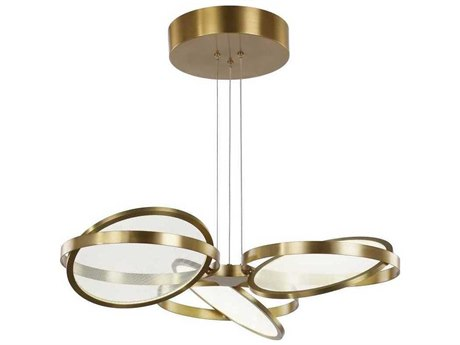 Artcraft Lighting Palo Alto Brushed Bronze Three-Light 29'' Wide LED Pendant Light ACAC7604BB