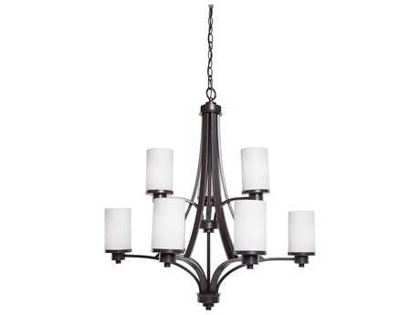 Artcraft Lighting Parkdale Oil Rubbed Bronze Nine-Light 28'' Wide Chandelier ACAC1309WH