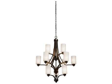 Artcraft Lighting Parkdale Oil Rubbed Bronze 12-Light 38'' Wide Chandelier ACAC1312WH