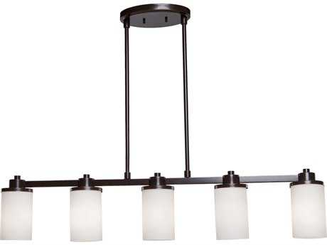 Artcraft Lighting Parkdale White Five-Light Island Light ACAC1306WH
