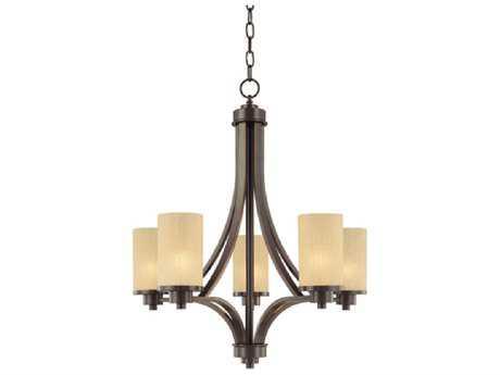 Artcraft Lighting Parkdale Oil Brushed Bronze Five-Light 24'' Wide Chandelier ACAC1305OB