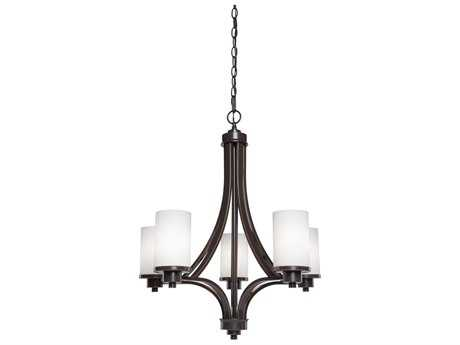 Artcraft Lighting Parkdale White Five-Light 24'' Wide Chandelier ACAC1305WH