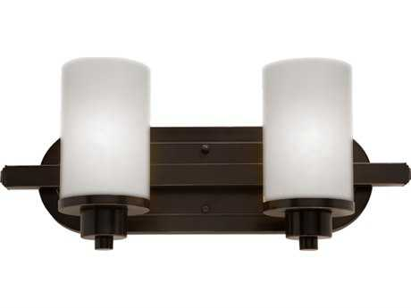 Artcraft Lighting Parkdale Oil Brushed Bronze with Opal White Glass Two-Light Vanity Light ACAC1302WH