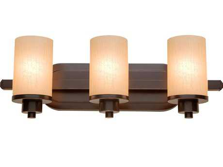Artcraft Lighting Parkdale Oil Brushed Bronze with Amber Glass Three-Light Vanity Light ACAC1303OB