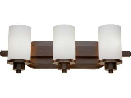 Artcraft Lighting Parkdale Oil Brushed Bronze with Opal White Glass Three-Light Vanity Light ACAC1303WH