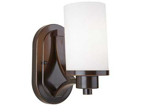 Artcraft Lighting Parkdale Oil Brushed Bronze with Opal White Glass Wall Sconce ACAC1301WH