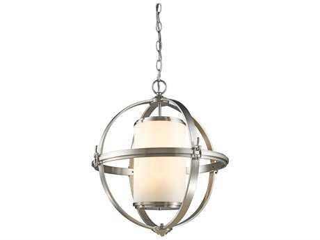 Artcraft Lighting Pharmacy Brushed Nickel Six-Light 29.5'' Wide Chandelier ACSC13026BN