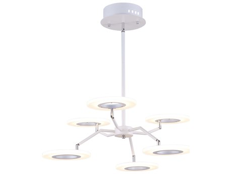 Artcraft Lighting Phoenix White 26'' Wide LED Medium Chandelier ACAC7069