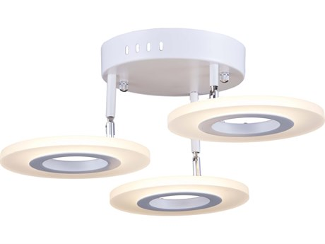 Artcraft Lighting Phoenix White 18'' Wide LED Semi-Flush Mount ACAC7068