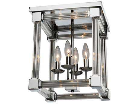 Artcraft Lighting Prince Arthur Chrome Four-Light Flush Mount Light ACCL15075CH