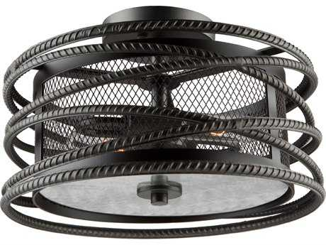 Artcraft Lighting Rebar Studio Dark Java Brown Two-Light Flush Mount Light ACAC10824JV