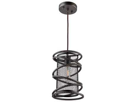 Artcraft Lighting Rebar Studio Dark Java Brown 7'' Wide Mini Pendant Light ACAC10820JV