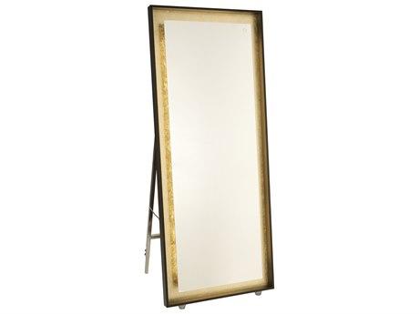 Artcraft Lighting Reflections Oil Rubbed Bronze / Gold Leaf Floor Mirror ACAM314