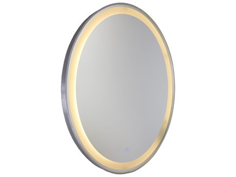 Howard Elliott Nadia Bright Silver Wall Mirror He92062
