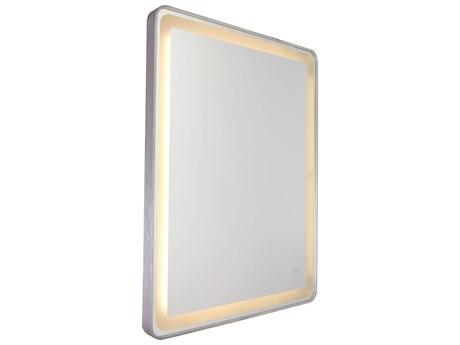 Artcraft Lighting Reflections Brushed Aluminum Wall Mirror ACAM301