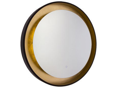 Artcraft Lighting Reflections Oil Rubbed Bronze / Gold Leaf Wall Mirror ACAM304