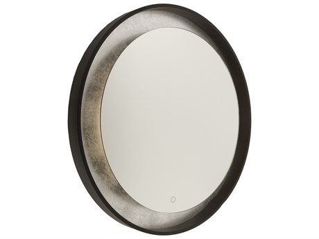 Artcraft Lighting Reflections Oil Rubbed Bronze / Silver Leaf Wall Mirror ACAM305