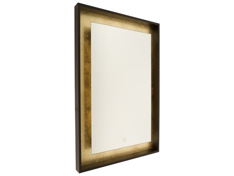 Artcraft Lighting Reflections Oil Rubbed Bronze / Gold Leaf Wall Mirror ACAM312