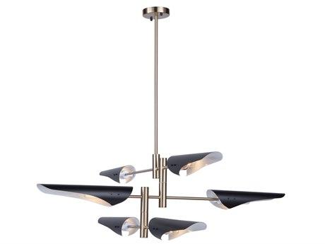 Artcraft Lighting Modern Renaissance Harvest Brass / Black 53'' Wide Pendant ACAC11396