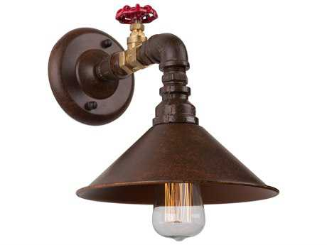 Artcraft Lighting Revival Brown & Rust Wall Sconce ACAC10647RU