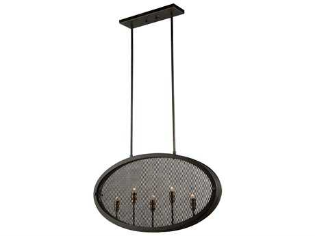 Artcraft Lighting Riverside Granite Black Five-Light 30'' Wide Island Light ACAC10833GB