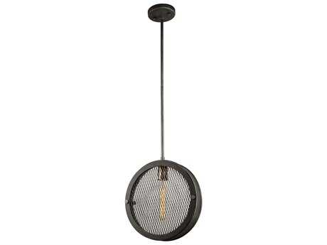 Artcraft Lighting Riverside Granite Black 12'' Wide Mini Pendant Light ACAC10830GB