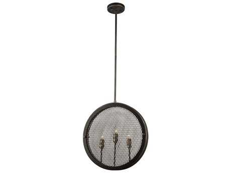 Artcraft Lighting Riverside Granite Black Three-Light 16'' Wide Pendant Light ACAC10831GB