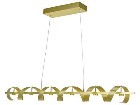 Artcraft Lighting Rolling Hills Brushed Brass Six-Light 47'' Wide Island Light ACAC7212GD