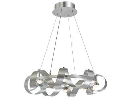 Artcraft Lighting Rolling Hills Brushed Aluminum Eight-Light 22'' Wide Pendant Light ACAC7210BA