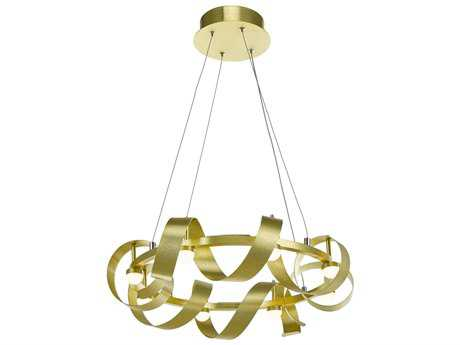 Artcraft Lighting Rolling Hills Brushed Brass Eight-Light 22'' Wide Pendant Light ACAC7210GD