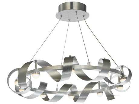 Artcraft Lighting Rolling Hills Brushed Aluminum Ten-Light 26'' Wide Pendant Light ACAC7211BA