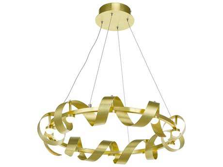 Artcraft Lighting Rolling Hills Brushed Brass Ten-Light 26'' Wide Pendant Light ACAC7211GD