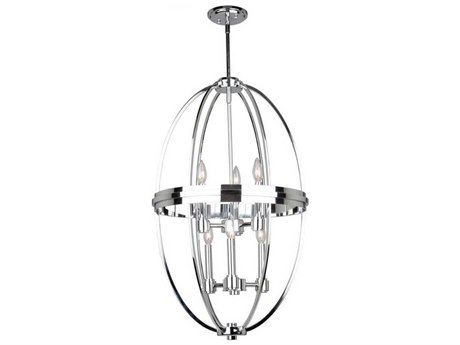 Artcraft Lighting Roxbury Chrome Six-Light 20'' Wide Mini Chandelier