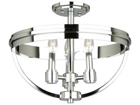 Artcraft Lighting Roxbury Chrome Three-Light 16'' Wide Semi-Flush Mount Light ACAC10693CH